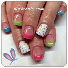 Polka-Dot | DIY Easter Nail Art Ideas for Teens | Easy Spring Nail Designs for Short Nails