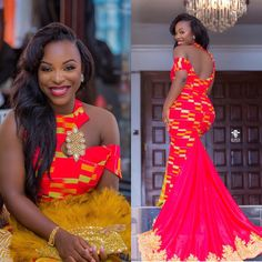117 Enchanting Asoebi Styles For The Season - AfroCosmopolitan African Fashion Ankara, Latest African Fashion Dresses, African Print Fashion, African Style, African Wedding Attire, African Attire, African Traditional Wedding Dress, Kente Dress, African Prom Dresses