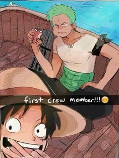 If Luffy had snap chat - Monkey D. Luffy and Roronoa Zoro One piece