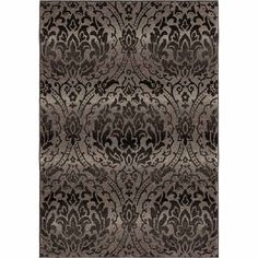 Orian American Heritage Gray Damask Polypropylene 5x8 Rug | Weekends Only Furniture and Mattress