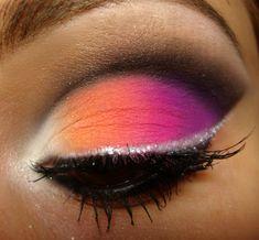 Colourful - orange, pink & violet http://www.makeupbee.com/look.php?look_id=56356