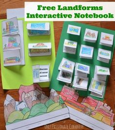 Goes Great With The Geography Portion Of Mfw Ecc Curriculum Landforms Interactive Notebook Pack