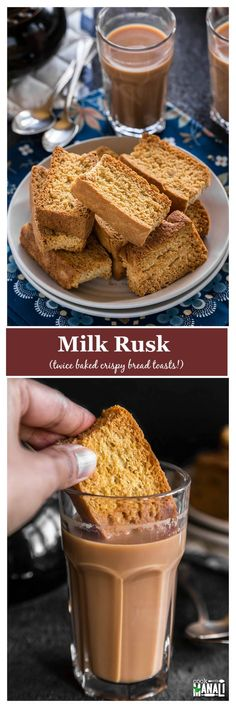 Learn how to make rusks at home with this easy rusk recipe! Rusks are twice baked toasrs which are best enjoyed with chai! Pastry Recipes, Baking Recipes, Cookie Recipes, Snack Recipes, Brunch Recipes, Bread Recipes, Snacks, Sugar Free Recipes, Sweet Recipes