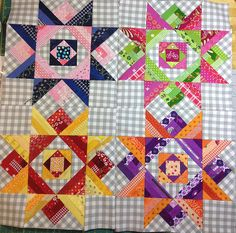 Eye candy – test blocks October Sky | ipatchandquilt
