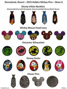 15 hidden mickey pins