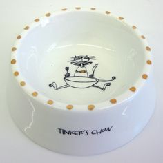 Personalized cat food dish