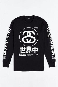f9cd205a24c8 Stussy Japan International Long-Sleeve Tee Mens Tee Shirts