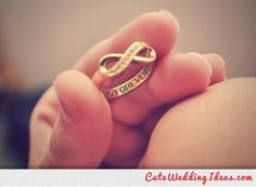#Wedding ring engraved with a personal message