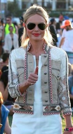 Sleeves Stand Collar Buttons Coats - White / S Denim Fashion, Boho Fashion, Womens Fashion, Leather Fashion, Fashion Clothes, Jacket Style, Vest Jacket, Mode Jeans, Chanel Jacket