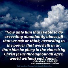 Ephesians 3:20,21 KJV