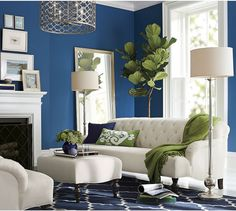 Having small living room can be one of all your problem about decoration home. To solve that, you will create the illusion of a larger space and painting your small living room with bright colors c… Home Interior, Living Room Interior, Home Living Room, Living Room Designs, Living Room Decor, Interior Design, Barn Living, Scandinavian Interior, Blue Rooms