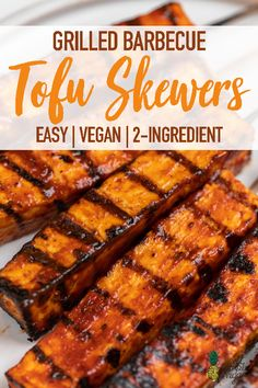 Learn how to make these simple 2-ingredient grilled barbecue tofu skewers. They're the perfect grill-friendly summer recipe to impress your friends and family with! #bbq #summer #vegan #tofu #barbecue #plantbased Barbecue Recipes, Grilling Recipes, Healthy Grilling, Vegetarian Grilling, Barbecue Sauce, Grill Barbecue, Vegan Grill Recipes, Pescatarian Recipes, Vegetarian Recipes