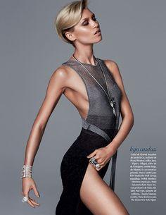 h stern earrings in september 2013 bazaar | ... Jirickova 08 Hana Jirickova Shines in Vogue Mexicos September Issue