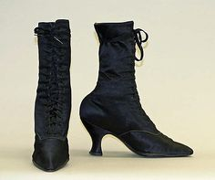 Boots: 1912, American, silk.