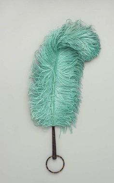 Ostrich feather fan, made in Europe or America, c.1920