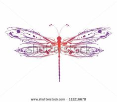 line drawings of dragonflies - Google Search