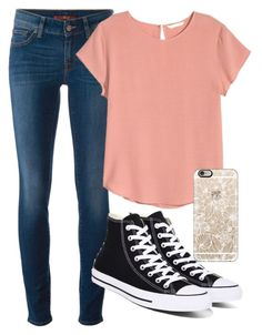 """""""Casual"""" by emmafetzer on Polyvore featuring 7 For All Mankind, H&M, Converse and Casetify"""