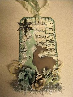 Tim Holtz Christmas Tags - Day 12 by seraines - Cards and Paper Crafts at Splitcoaststampers