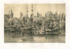 Η αποβάθρα του Εγιούπ στον Κεράτιο κόλπο. - FLANDIN, Eugène - ME TO BΛΕΜΜΑ ΤΩΝ ΠΕΡΙΗΓΗΤΩΝ - Τόποι - Μνημεία - Άνθρωποι - Νοτιοανατολική Ευρώπη - Ανατολική Μεσόγειος - Ελλάδα - Μικρά Ασία - Νότιος Ιταλία, 15ος - 20ός αιώνας