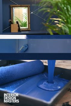 Why not try this very contemporary, modern colour to make a bold statement in your home. Interior Design Masters starts Wednesday August, on BBC Two. Interior Design Masters, Commercial Interior Design, Commercial Interiors, Bbc Two, Modern Colors, Wednesday, Shelves, Colour, Contemporary