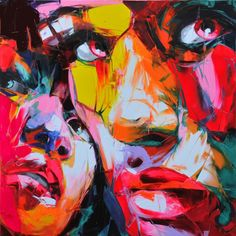 Explosive Colorful Portraits Paintings By Francoise Nielly – 04 | Designalmic