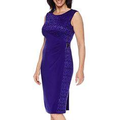 jcpenney.com   R&M Richards Sleeveless Lace Sheath Dress