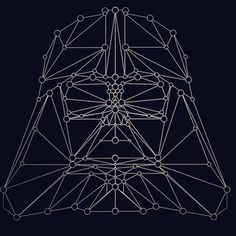 Star word polygon art