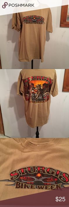 """NWOT Sturgis Bike Week Men's T'Shirt This t is rare the business """"Sturgis Bike Week"""" went out of business. Never worn, just hung in closet Gildan Shirts Tees - Short Sleeve"""