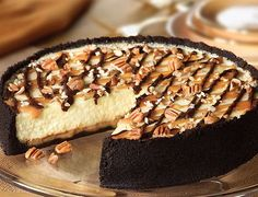 Chocolate Turtle Cheesecake Recipe - http://healthyrecipesideas.com/chocolate-turtle-cheesecake-recipe/
