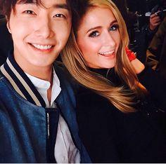 Actor Jung Il Woo gets up close and personal with Paris Hilton in Shanghai Jung Il Woo, Paris Hilton, Asian Actors, Korean Actors, Dramas, Victoria Dress, Korean Music, Get Up, Celebs