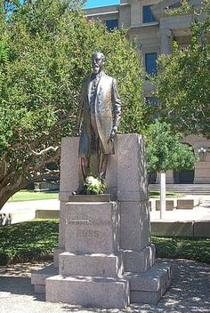 Texas A & M University - Lawrence Sullivan Ross , 1918 bronze statue is located in the open area in front of Academic Building. This sculpture, nicknamed 'Sully' by the students, is one of the most revered works on campus. * * * * * Students often place coins at Sully's feet for good luck on exams. * * * * * Lawrence Sullivan Ross was a Governor of the State of Texas and the third President of the then A & M College.
