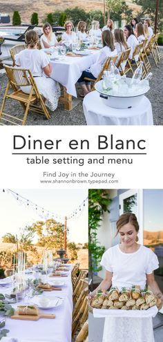 Diner en Blanc - table setting and menu | Find Joy in the Journey