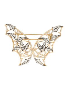 Stephen Webster Fly By Night Batmoth Diamond Brooch