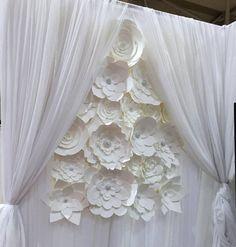 DIY Paper Flower Backdrop White  paper от DreamEventsinPaper