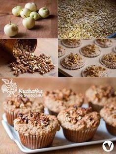 Kuchařka ze Svatojánu: OŘECHOVÉ MUFFINY Healthy Baking, Cereal, Breakfast, Food, Fitness, Organize, Syrup, Food Food, Breakfast Cafe