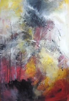 "Saatchi Art Artist Annie Rodrigue; Painting, ""Fusion marinée"" #art"