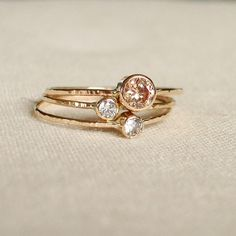 stacking rings, handmade - maryjohn