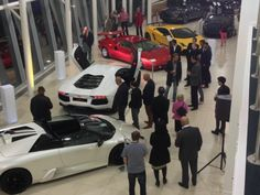 Guests Admire Mixed Generations of Lamborghini