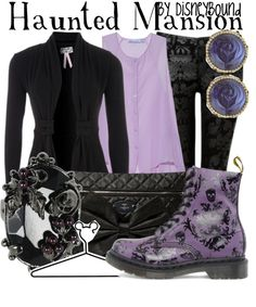 """Haunted Mansion"" by lalakay on Polyvore - Leslie Kay is a speaker at the Disney Social Media Moms Celebration 2014 #DisneySMMoms"
