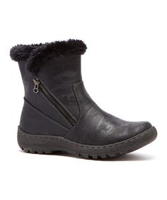 Another great find on #zulily! Black Leigh Boot #zulilyfinds