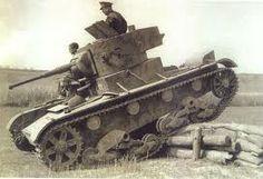 Spain - 1936-39. - GC - Defenses. Barricade - Carro medio T-26B