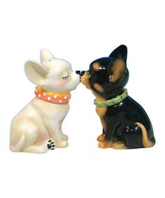 Look at this #zulilyfind! Chihuahua Salt & Pepper Shakers #zulilyfinds