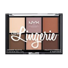 Wear your favorite lingerie on your lids! Create your sultry look with NYX Cosmetics 'Lid Lingerie Shadow Palette', which includes six creamy matte neutral shades.