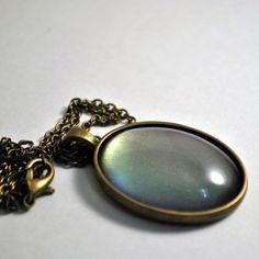 Vivienne pendant in Medium Plain setting  nail polish jewelry stocking stuffer Christmas gift ideas purple green silver duochrome by TartanHearts