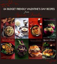 64 Recipes for a Budget Friendly Valentine's Day Recipes by @SpicieFoodie | #ValentinesDay #budgetfriendly #recipes #homecookedmeals