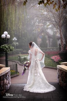 With cobblestoned streets, colorful gardens and stately architecture, Epcot's Canada Pavilion provides the perfect backdrop for a regal photo shoot #Disney #wedding