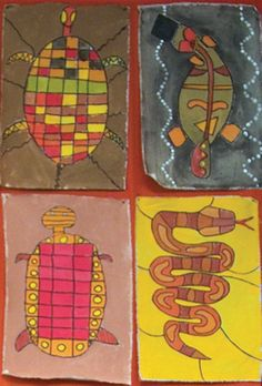 I love this example of Aboriginal art - away from the dot painting! Aboriginal Painting, Dot Painting, Australian Animals, Australian Art, Art Activities For Kids, Art For Kids, Australia For Kids, Naidoc Week, Aboriginal Education