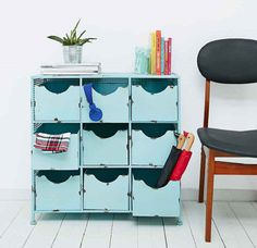 Colourful home office storage solutions brighten small spaces | Homegirl London