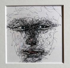 abstrakte Porträtzeichnung