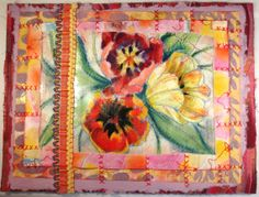 Spring Tulips Mixed Media Collage by ColorUtopia on Etsy (sold)